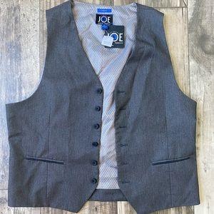 Joe Joseph Abboud Men's Charcoal Slim Fit Vest